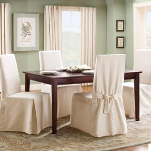 Surprising White Cotton Dining Chair Covers Evergreenethics Interior Chair Design Evergreenethicsorg